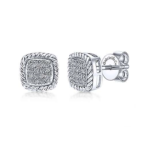 Gabriel & Co. 14K White Gold Fashion 0.20ct Diamond Earrings EG9487W45JJ