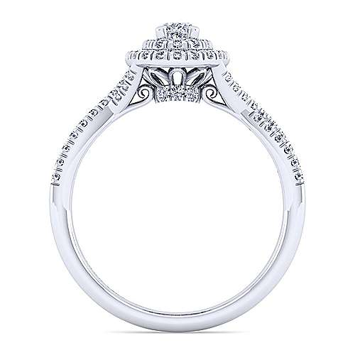 Gabriel & Co 14K White Gold Oval Double Halo Diamond Engagement Ring  ER10139O0W44JJ