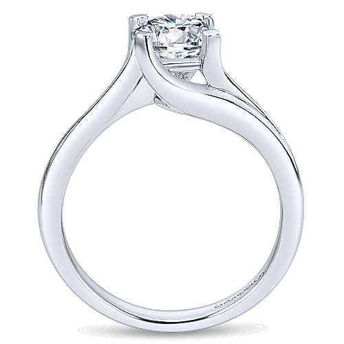 Gabriel & Co 14K White Gold Round Bypass Diamond Engagement Ring ER10200W4JJJ