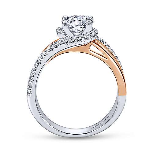 Gabriel & Co 14K White-Rose Gold Round Diamond Halo Engagement Ring ER10308T44JJ