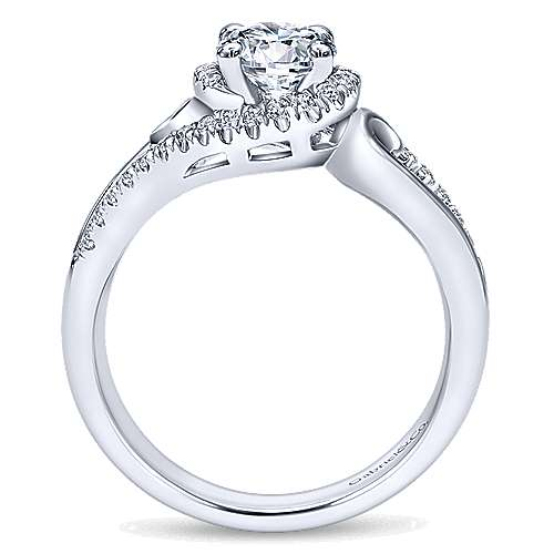Gabriel & Co 14K White Gold Round Bypass Diamond Engagement Ring ER10450W44JJ
