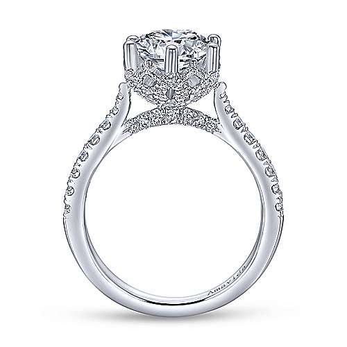 Gabriel & Co 18K White Gold Round Diamond Engagement Ring  ER10521R8W83JJ