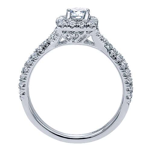 Gabriel & Co 14K White Gold Round Diamond Halo Engagement Ring ER10937W44JJ