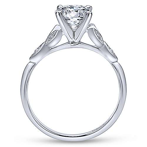 Gabriel & Co 14K White Gold Round Diamond Engagement Ring  ER11747R4W44JJ