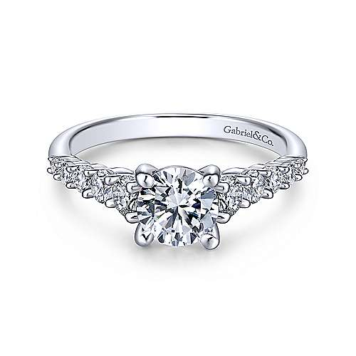 Gabriel & Co 14K White Gold Round Diamond Engagement Ring  ER11755R3W44JJ