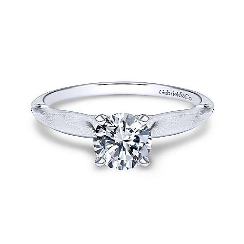 Gabriel & Co 14K White Gold Round Diamond Engagement Ring  ER11831R3W4JJJ