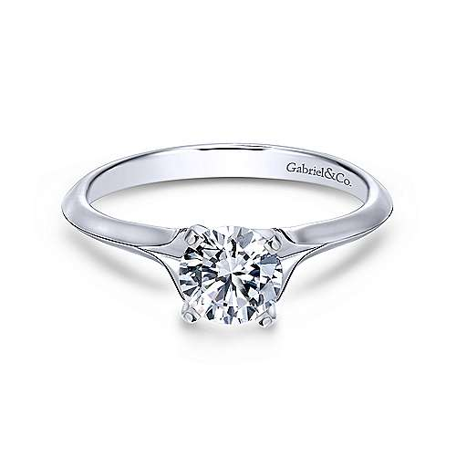 Gabriel & Co 14K White Gold Round Diamond Engagement Ring  ER11832R3W4JJJ