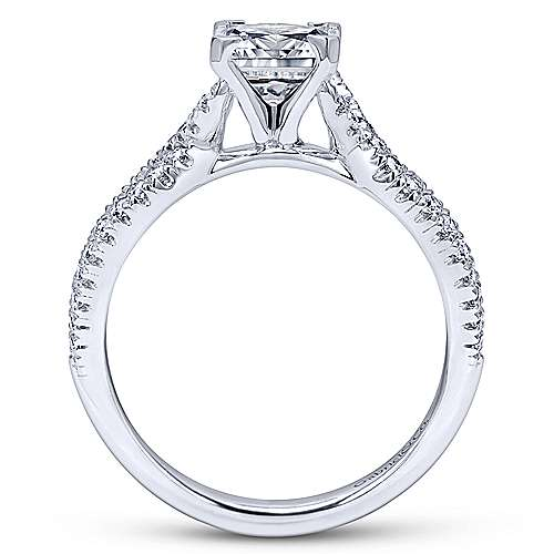 Gabriel & Co 14K White Gold Princess Cut Diamond Twisted Engagement Ring ER11887S4W44JJ