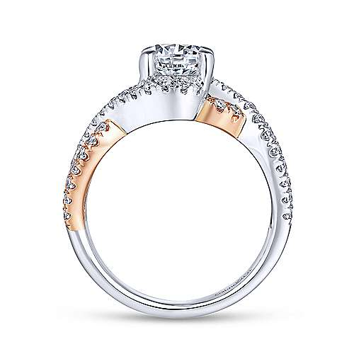 Gabriel & Co 14K White-Rose Gold Round Diamond Twisted Engagement Ring ER12005R4T44JJ