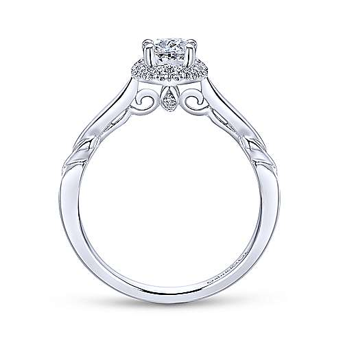 Gabriel & Co 14K White Gold Oval Diamond Halo Engagement Ring ER12217O2W44JJ
