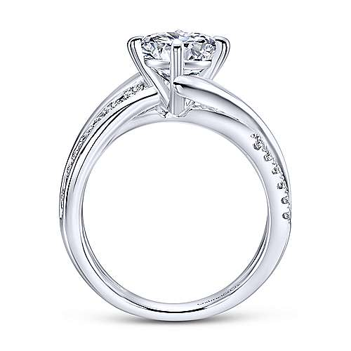 Gabriel & Co 14K White Gold Round Diamond Engagement Ring ER12335R4W44JJ