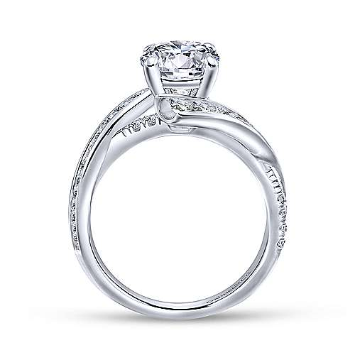 Gabriel & Co 14K White Gold Round Diamond Engagement Ring ER12336R4W44JJ