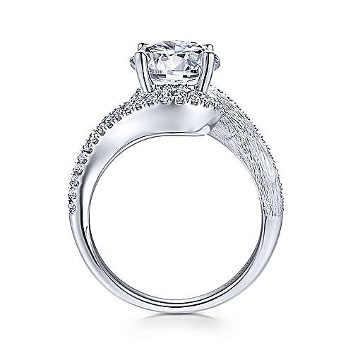 Gabriel & Co 14K White Gold Round Diamond Engagement Ring ER12348R6W44JJ