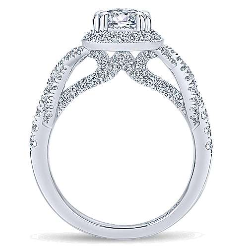 Gabriel & Co 14K White Gold Round Diamond Halo Engagement Ring ER12621R4W44JJ