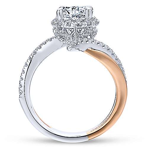 Gabriel & Co 14K White-Rose Gold Round Diamond Halo Engagement Ring ER12758R4T44JJ