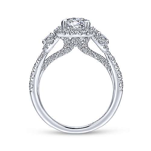 Gabriel & Co 14K White Gold Round Diamond Engagement Ring  ER12770R4W44JJ