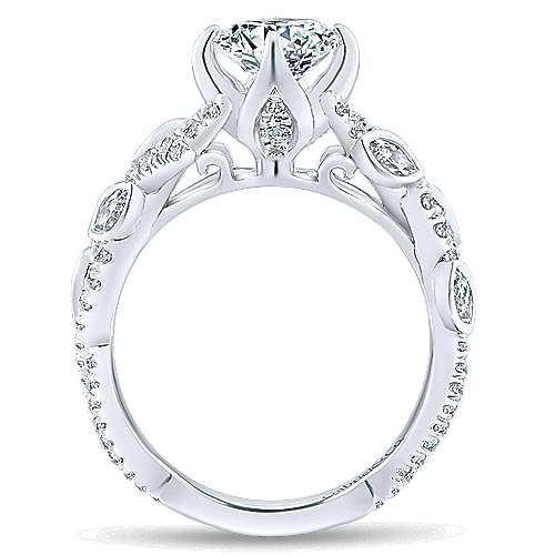 Gabriel & Co 14K White Gold Round Diamond Engagement Ring ER12888R4W44JJ