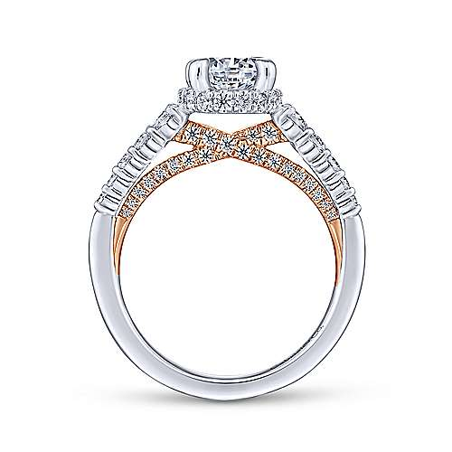 Gabriel & Co 14K White Rose Gold Round Diamond Engagement Ring  ER13829R4T44JJ