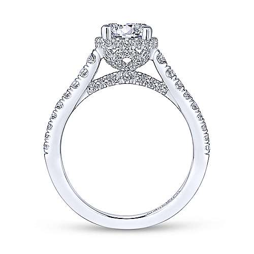 Gabriel & Co 14K White Gold Round Diamond Engagement Ring  ER13856R4W44JJ