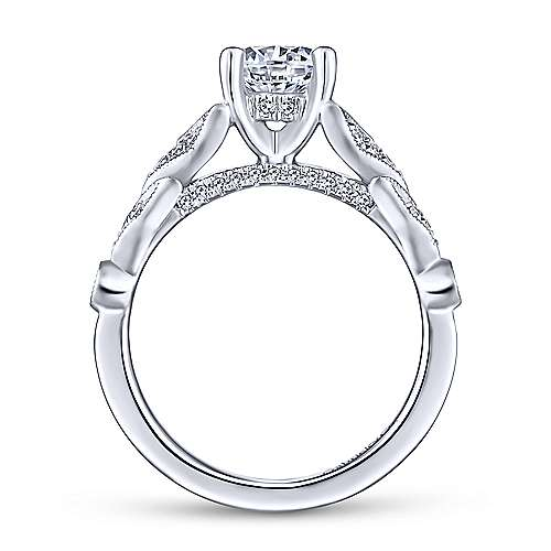 Gabriel & Co 14K White Gold Round Diamond Engagement Ring  ER13888R4W44JJ