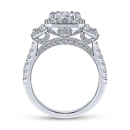 Gabriel & Co 14K White Gold Princess Cut Diamond Engagement Ring  ER14067S6W44JJ