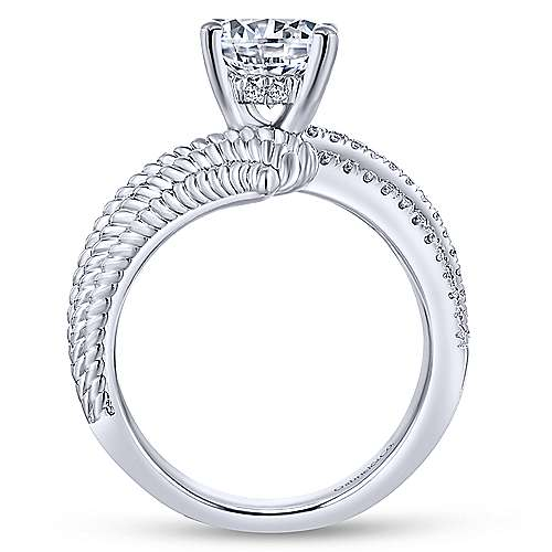 Gabriel & Co 14K White Gold Round Diamond Engagement Ring ER14084R6W44JJ