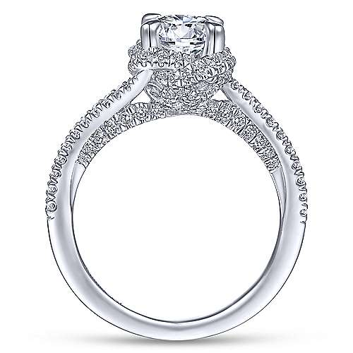 Gabriel & Co 14K White Gold Round Diamond Engagement Ring ER14415R4W44JJ