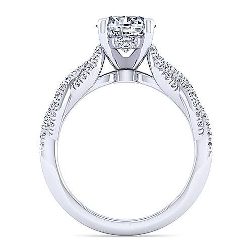 Gabriel & Co 14K White Gold Round Diamond Twisted Engagement Ring ER14419R6W44JJ
