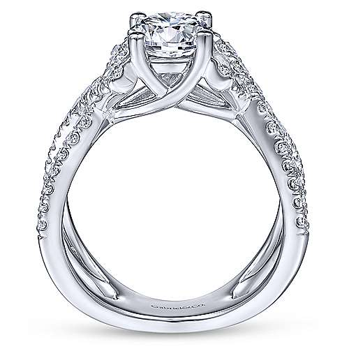 Gabriel & Co 14K White Gold Round Diamond Engagement Ring  ER14457R4W44JJ