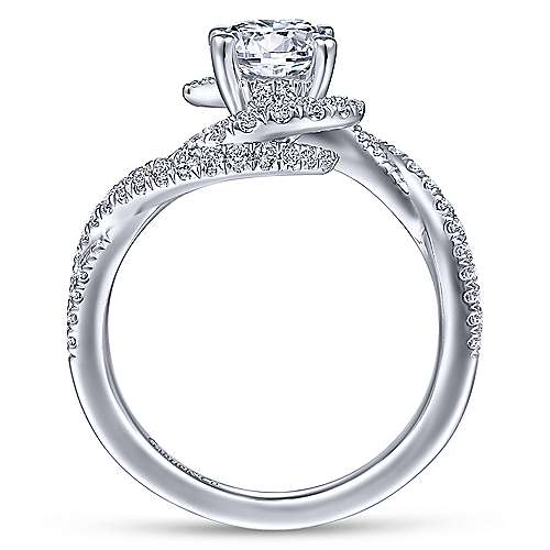 Gabriel & Co 14K White Gold Round Diamond Engagement Ring ER14466R4W44JJ