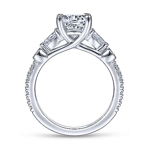 Gabriel & Co 18K White Gold Round Diamond Engagement Ring  ER14516R6W84JJ