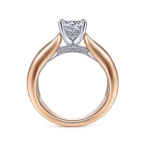 Gabriel & Co 14K White Rose Gold Round Diamond Engagement Ring  ER14612R4T44JJ
