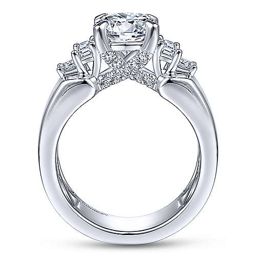 Gabriel & Co 14K White Gold Round Diamond Engagement Ring  ER14619R6W44JJ