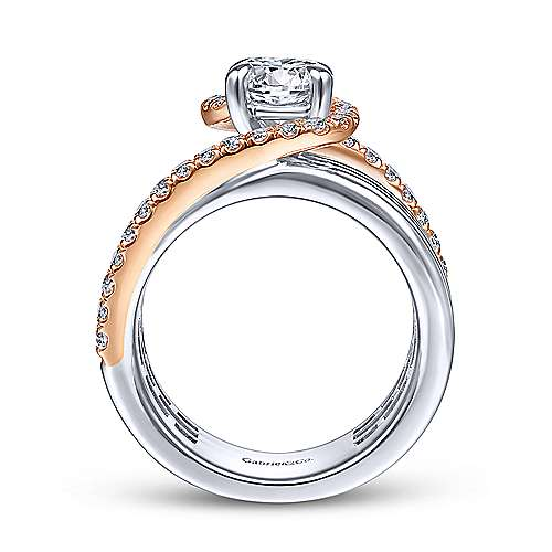 Gabriel & Co 14K White Rose Gold Round Diamond Engagement Ring  ER14630R4T44JJ