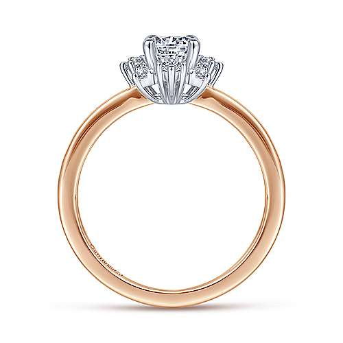Gabriel & Co 14K White-Rose Gold Round Diamond Halo Engagement Ring ER14661R2T44JJ