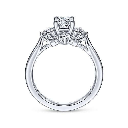 Gabriel & Co 14K White Gold Round Diamond Halo Engagement Ring ER14779R3W44JJ