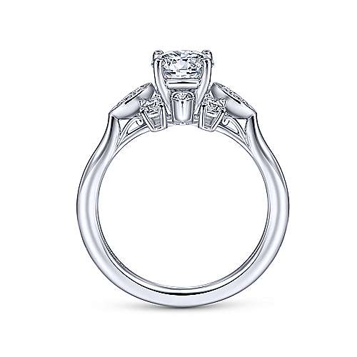 Gabriel & Co 14K White Gold Round Diamond Halo Engagement Ring ER14780R3W44JJ