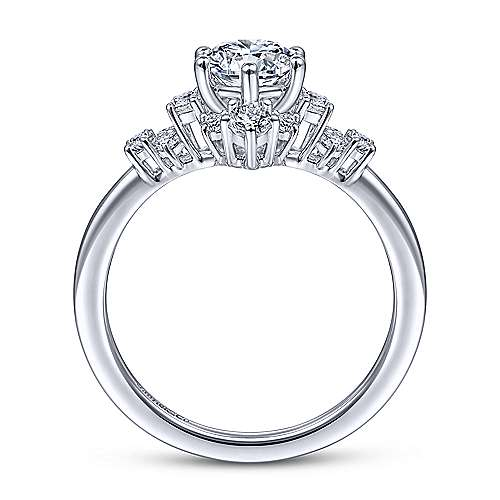 Gabriel & Co 14K White Gold Round Diamond Halo Engagement Ring ER14781R3W44JJ