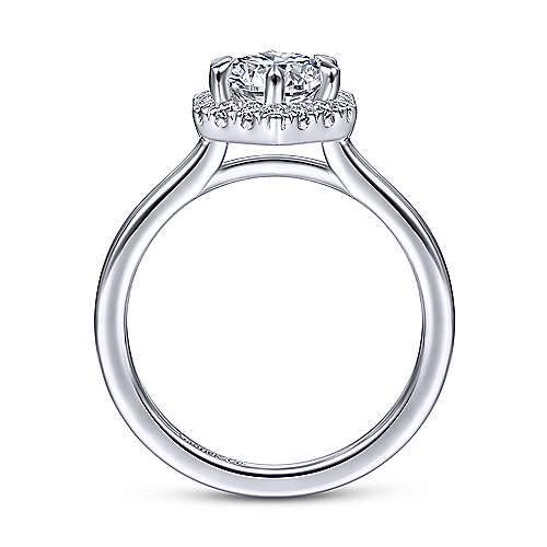 Gabriel & Co 14K White Gold Round Diamond Halo Engagement Ring ER14788R4W44JJ