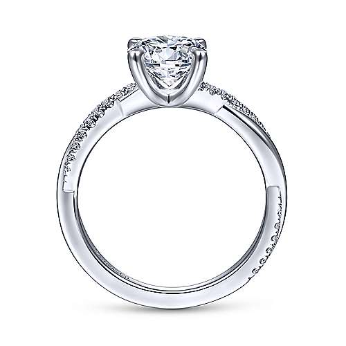Gabriel & Co 14K White Gold Round Diamond Engagement Ring ER14922R4W44JJ