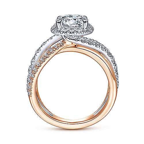 Gabriel & Co 14K White-Rose Gold Round Diamond Halo Engagement Ring ER15016R6T44JJ