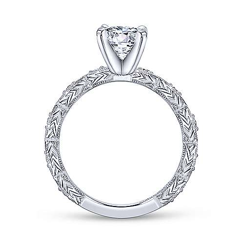 Gabriel & Co 14K White Gold Round Diamond Engagement Ring  ER4122W44JJ