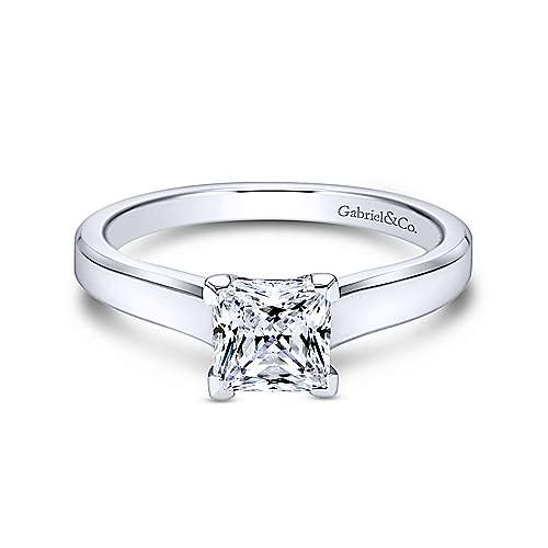 Gabriel & Co 14K White Gold Princess Cut Diamond Engagement Ring  ER6575W4JJJ