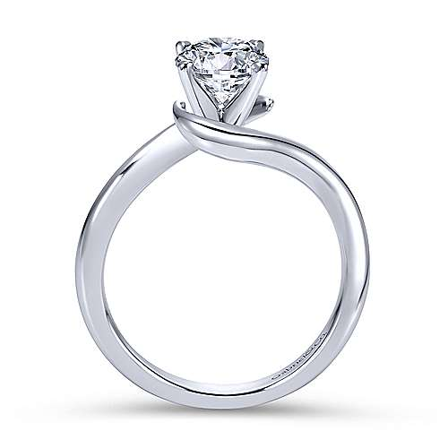 Gabriel & Co 14K White Gold Round Bypass Diamond Engagement Ring ER6678W4JJJ