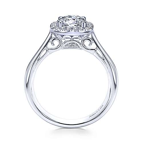 Gabriel & Co 18K White Gold Round Diamond Halo Engagement Ring ER6875W83JJ