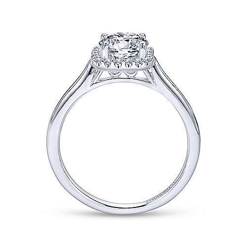 Gabriel & Co 14K White Gold Round Diamond Halo Engagement Ring ER7818W44JJ