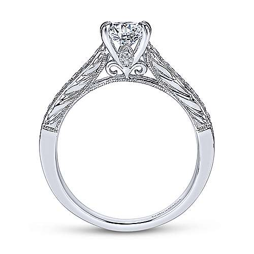 Gabriel & Co 14K White Gold Oval Diamond Engagement Ring  ER8805W44JJ