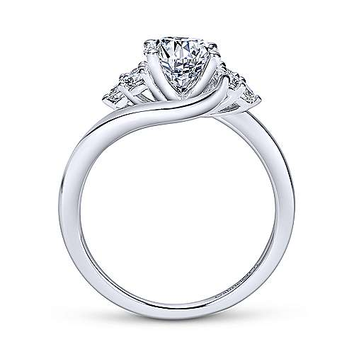 Gabriel & Co 14K White Gold Round Bypass Diamond Engagement Ring ER8951W44JJ