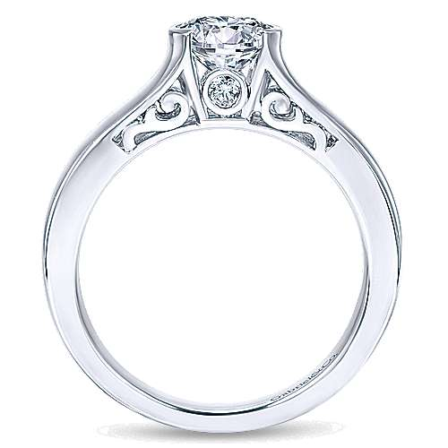 Gabriel & Co 14K White Gold Round Diamond Engagement Ring  ER9057W44JJ