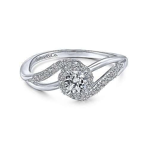 Gabriel & Co 14K White Gold Round Diamond Halo Engagement Ring ER912143R1W44JJ.CSD4